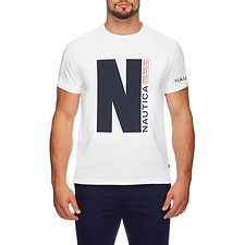 Image of Nautica BRIGHT WHITE THE BIG N SHORT SLEEVE TEE