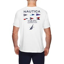 Image of Nautica BRIGHT WHITE COMPETITION DEFENDER FLAG TEE