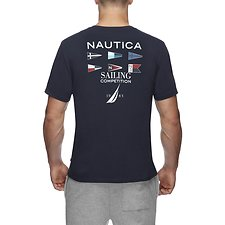 Image of Nautica NAVY COMPETITION DEFENDER FLAG TEE