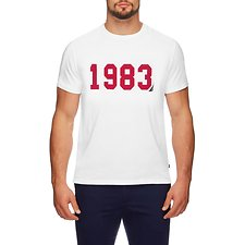 Image of Nautica BRIGHT WHITE 1983 Varsity T-shirt