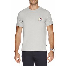 Image of Nautica GREY HEATHER SS CHALLENGE FLAG SHORT SLEEVE TEE