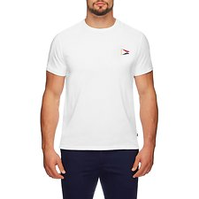 Image of Nautica BRIGHT WHITE SS CHALLENGE FLAG SHORT SLEEVE TEE