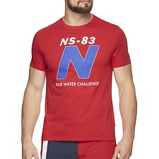 Image of Nautica CHERRY RED BLUE WATER CHALLENGE N TEE