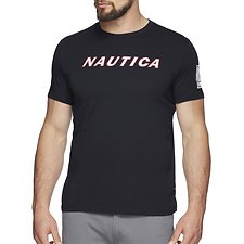 Image of Nautica NAVY BLUE WATER CHALLLENGE SLANT GRAPHIC TEE