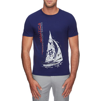 Image of Nautica  NAUTICA COMPETITION YACHT SAILING TEE