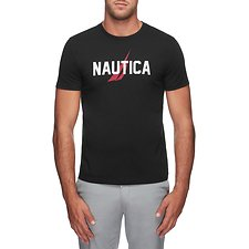 Image of Nautica TRUE BLACK RATHER BE SAILING SHORT SLEEVE TEE
