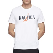 Image of Nautica BRIGHT WHITE RATHER BE SAILING SHORT SLEEVE TEE