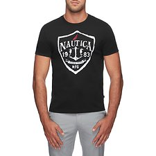 Image of Nautica TRUE BLACK THE NAUTICA CREST TEE