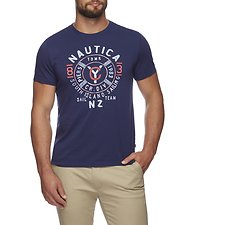 Image of Nautica JUST NAVY COMPASS PIERS BUOY GRAPHIC TEE