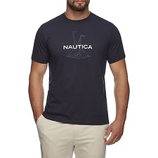 Image of Nautica NAVY SHORT SLEEVE ANCHOR FLAG GRAPHIC T-SHIRT
