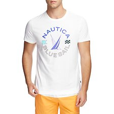 Image of Nautica  BLUE SAIL WHEEL GRAPHIC TEE