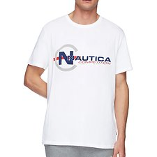 Image of Nautica BRIGHT WHITE NAUTICA COMPETITION FOOTACTION POP GRAPHIC TEE