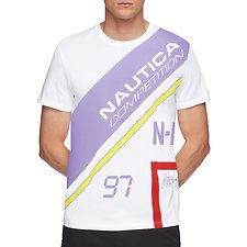 Image of Nautica BRIGHT WHITE NAUTICA COMPETITION FOOTACTION CROSS BODY TEE