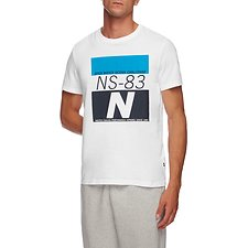 Image of Nautica BRIGHT WHITE NS83 OPEN WATER CHALLENGE GRAPHIC TEE