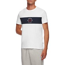 Image of Nautica BRIGHT WHITE CHEST BLOCK BLUE WATER TEE