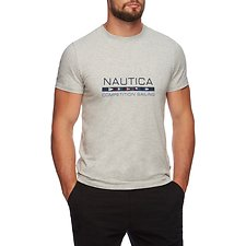 Image of Nautica GREY HEATHER COMPETITION SAILING GRAPHIC TEE