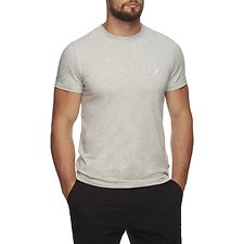 Image of Nautica GREY HEATHER SHORT SLEEVE ANCHOR LOGO TEE