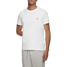 Image of Nautica BRIGHT WHITE SHORT SLEEVE ANCHOR LOGO TEE