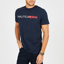 Image of Nautica NAVY NAUTICA 83 STRIPE SHORT SLEEVE TEE