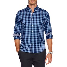 Picture of Button down collar long sleeve gingham shirt