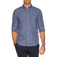 Picture of Long sleeve plaid poplin shirt