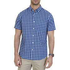 Picture of Short sleeve wrinkle resistant plaid shirt