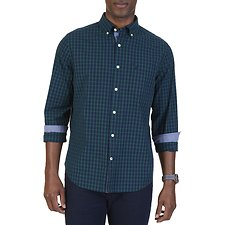 Picture of PLAID POPLIN LONG SLEEVE SHIRT