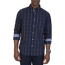 Picture of WINDOWPANE POPLIN LONG SLEEVE SHIRT