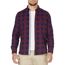 Picture of Long sleeve plaid flannel shirt