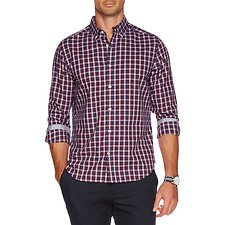 Picture of Button down long sleeve plaid shirt