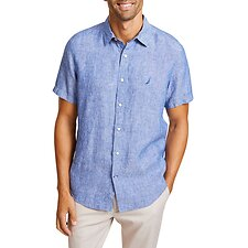 Image of Nautica  THE SHORT SLEEVE LINEN SHIRT