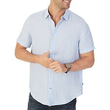Image of Nautica COASTAL SKY THE SHORT SLEEVE LINEN SHIRT