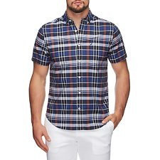 Picture of SHORT SLEEVED SOLID PLAID SHIRT