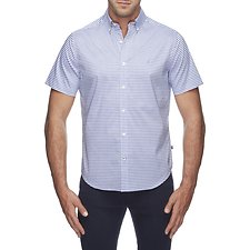 Image of Nautica CRYSTAL BAY BLU SS GINGHAM SHIRT
