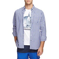 Image of Nautica OCEAN LAPIS NAVTECH COOLEST COMFORT CHECKED SHIRT