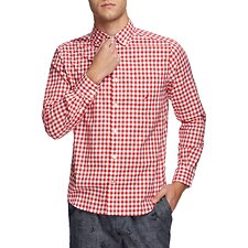 Image of Nautica RESCUE RED NAVTECH COOLEST COMFORT CHECKED SHIRT
