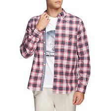Image of Nautica CORAL CAPE SQUARE UP POPLIN LONG SLEEVE SHIRT