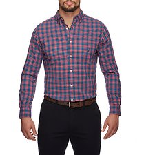 Image of Nautica RESCUE RED NAVTECH PLAID LONG SLEEVE SHIRT