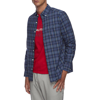Image of Nautica  PLAID WRINKLE RESISTANT SHIRT