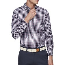 Image of Nautica ZINFANDEL PLAID MINI CHECK POPLIN SHIRT