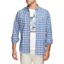 Image of Nautica REGATTA VINTAGE PLAID LONG SLEEVE SHIRT