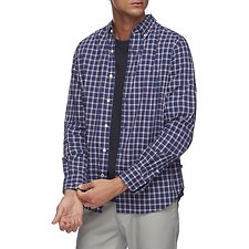 Image of Nautica JUST NAVY NAVTECH CLASSIC PLAID LONG SLEEVE SHIRT