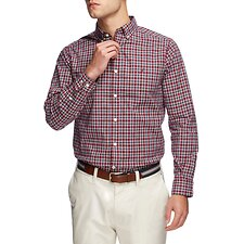 Image of Nautica ZINFADEL NAVTECH FINE CHECK LONG SLEEVE SHIRT