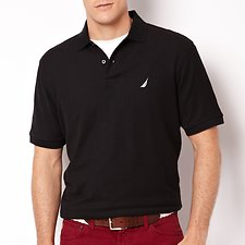 Image of Nautica TRUE BLACK Big & Tall Short Sleeve Deck Polo