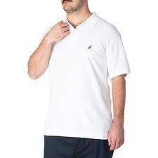 Image of Nautica BRIGHT WHITE Big & Tall Short Sleeve Deck Polo