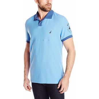 Image of Nautica  Big & Tall Sport Stripe Short Sleeve Polo