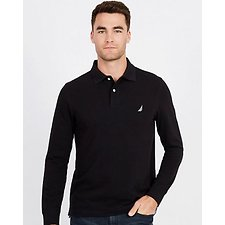Image of Nautica TRUE BLACK Big & Tall Classic Rugby Polo Shirt