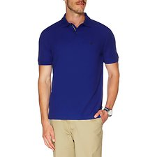 Image of Nautica BRIGHT COBALT Big & Tall Performance Deck Polo