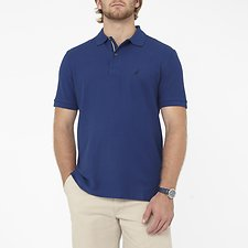 Image of Nautica ESTATE BLUE Big & Tall Performance Deck Polo